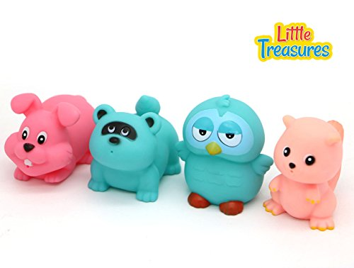 Little Treasures Woodland Floating bath toys for babies Bathtub Fun playing Toys