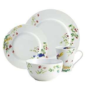 Paula Deen Signature Dinnerware Spring Melody Collection 16-Piece Dinnerware Set