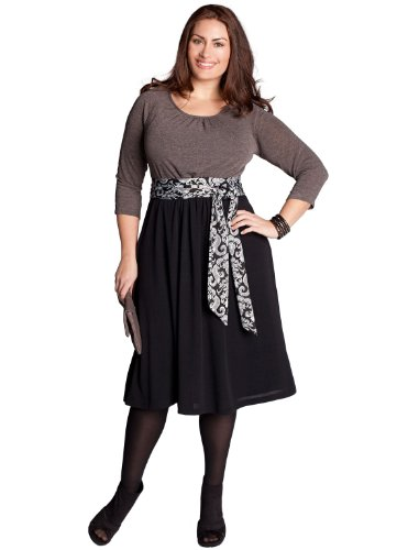 Deals IGIGI by Yuliya Raquel Plus Size Lynette Sweater Dress in Truffle