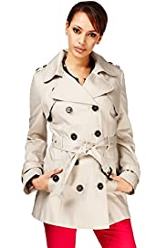 Pure Cotton Double Breasted Stormwear&#8482; Trench Mac with Belt