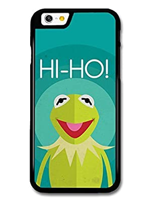 The Muppets Kermit Frog Funny Illustration Blue Background case for iPhone 6 plus 5.5
