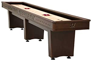 Buy Central Michigan Chippewas Mahogany 14' Shuffleboard Table by Holland Bar Stool