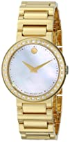 Movado Womens 0606422 Concerto Gold-Plated Stainless-Steel