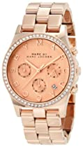 Marc by Marc Jacobs Henry Chronograph Rose Dial Rose Gold-tone Ladies Watch MBM3118