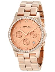 Marc Jacobs Henry Rose Gold Pink Dial Women's Watch MBM3118
