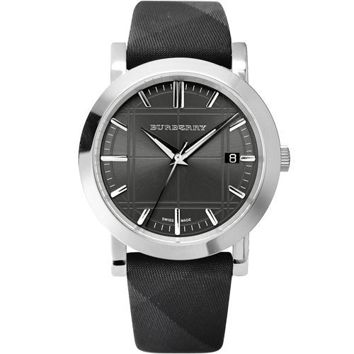 Burberry BU1758 Men's Heritage Grey Nova Check Fabric Band Grey Dial Watch