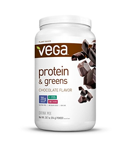 Vega Protein & Greens, Chocolate, 1.79 lb (25 Servings) (Diet Water Mix compare prices)
