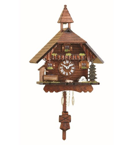 Kuckulino Black Forest Clock Black Forest House with quartz movement and cuck...