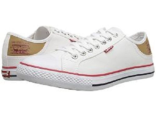 Levi's Women's Stan Buck Walking Shoe, White, 7 M US