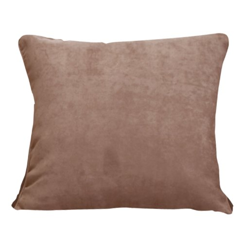 Sure Fit Soft Suede Corded Pillow, 18-Inch, Sable front-767977