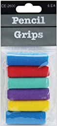 Foam Pencil Grips 6 Piece Set - Assorted Colors - Foam Pencil Grips 6 Piece Set - Assorted Colors. These Soft And Comfortable Grips Are Useful To Prevent Writing Fatigue Especially When Extensive Wri