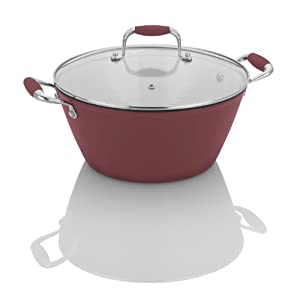 Fagor Michelle B. 5-Qt. Cast Iron Lite Soup Pot, Red by Michelle B. Fagor