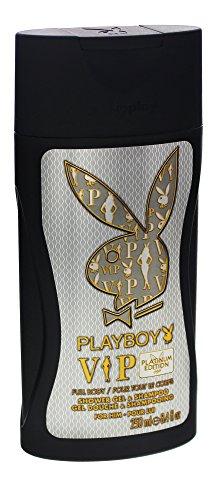 6 x Playboy 2 in 1 Gel Doccia Shampoo + / VIP / per gli uomini / ogni 250ml