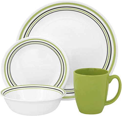 Corelle Livingware 16-Piece Dinner Set, Service for 4 (Corelle Dishes Round compare prices)