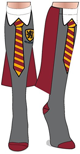 Harry Potter Gryffindor Costume School Uniform Knee High Cape Socks Sock Size: 9-11, Fits Shoe Size: 5-10