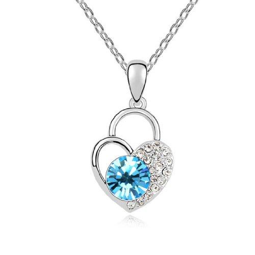 Boxingcat Fine Jewelry Swarovski Style Clear Austrian Crystal Pendant Necklaces Bgca9597 front-602624