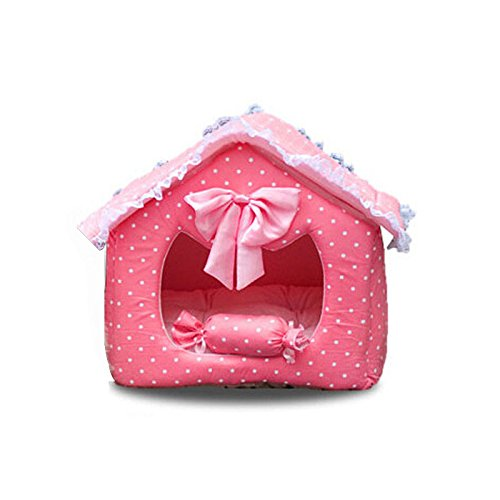 Lovely can Washable Princess Cute Pink/Blue Pet Dog Cat Sofa Bed/House