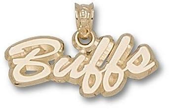 Colorado Buffaloes Script Buffs Pendant - 14KT Gold Jewelry by Logo Art