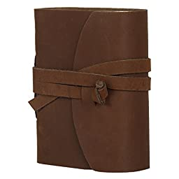 Handmade Small Leather Journal Notebook Diary for Men Women Him Her