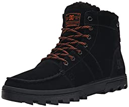 DC Men\'s Woodland Snow Boot, Black/Orange, 6.5 M US