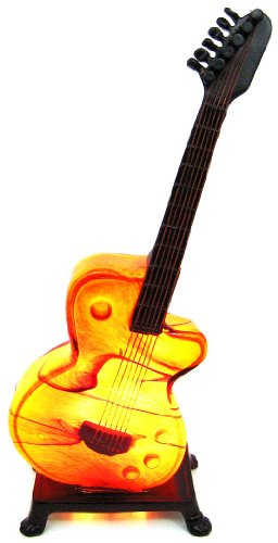 Discount amber glass electric guitar accent table lamp tiffany amber glass electric guitar accent table lamp aloadofball Images