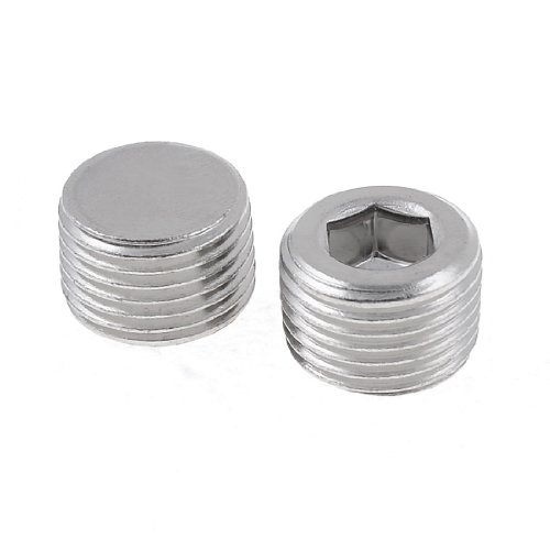 Water & Wood 2 X Air Pneumatic 3/4 Pt Male Thread Internal Hex Head Pipe Plugs front-640296