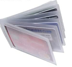 Replacement Plastic Credit Card Purse Wallet Insert