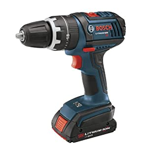Bosch HDS180-03 18V Compact Tough Hammer Drill Driver with 1 1.3Ah and 1 2.6Ah Batteries, Blue