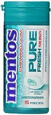 Mentos Gum Pocket Bottle Wintergreen 1.06 Ounce Pack of 10
