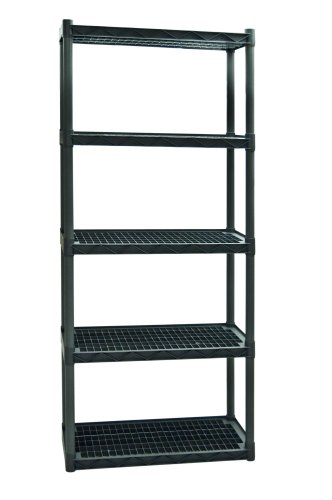 Plano Molding 925 Heavy Duty Shelving with Vents, 5-Shelf (Resin Storage Shelves compare prices)