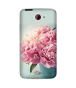 Pink Flower Bouquet HTC One X Case