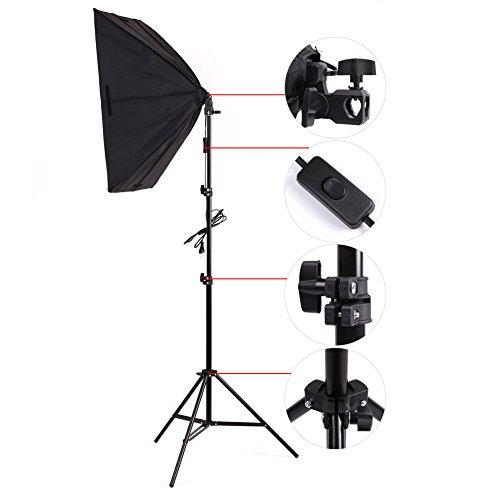 Amzdeal-kit-Attrezzatura-Fotografica-1-x-softbox-50-x-70cm-con-lampade-1-x-135W-e-1-x-Supporto-Per-la-fotografia-Kit-Set-da-Studio-Professionale-normative-europee