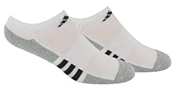 adidas Women's Climalite II 2-Pack No Show Sock, White/Aluminium/Black, Shoe Size 5-10