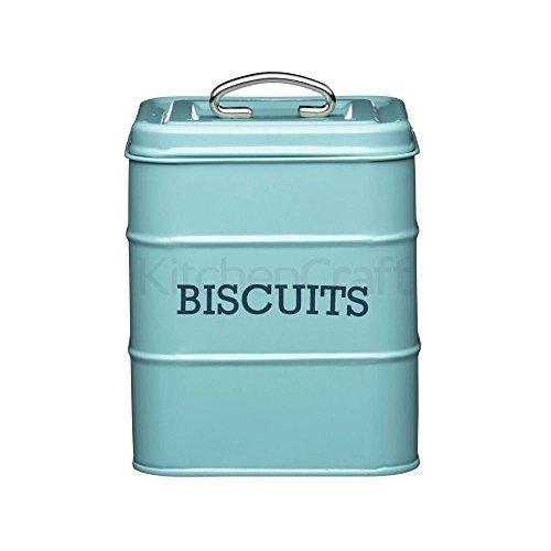 Vivre Nostalgie Biscuit stockage Tin 14.5x19cm Bleu (pack de 2)