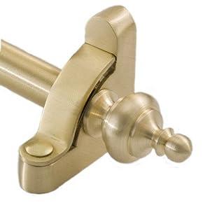"Heritage 72"" Roped Tubular Stair Rod Set Regular Brackets Urn Finial Finish: Brushed Brass"