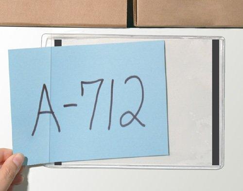 "Storesmart® - 8 1/2"" X 11 1/2"" - Magnetic Strips Along Short Sides - Open Short Side - 25-Pack - Clear Plastic Pockets For Refrigerator Or Locker - Pe1009M2-25 front-445841"