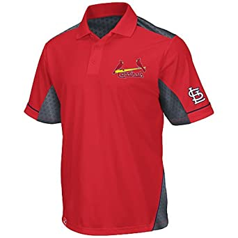 St. Louis Cardinals Majestic MLB Victory Anthem Performance Polo Shirt by Majestic