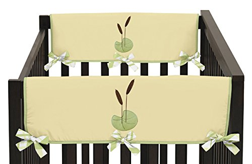 Sweet Jojo Designs Leap Frog Teething Protector Cover Wrap Baby Crib Side Rail Guards - Set of 2