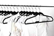 Jeronic 50 Pack Black Velvet Hangers…