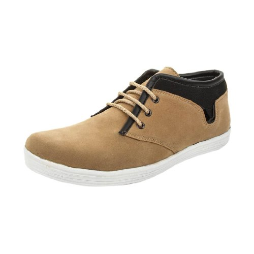 Bacca Bucci Men Orange Canvas Casual LaceUp Shoes