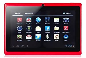 "7"" inch Touch Screen Allwinner A13 1.0GHz CPU  Android 4.0 Tablet PC 4GB HDD 512MB WiFi (Red)"