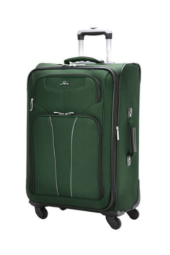 Skyway Luggage Sigma 4 24-Inch 4 Wheel Expandable Spinner Upright, Midnight Green, One Size