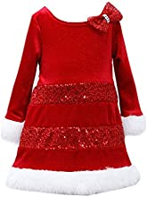 Bonnie Jean Little Girls39 Sequin Santa Dress