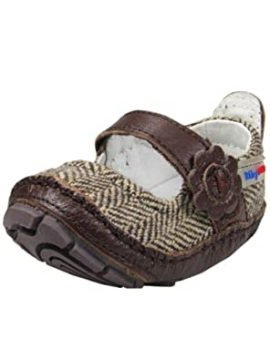 Girls Tweed Mary Jane Baby Shoes by Rileyroos - Brown - 3-6 Mths
