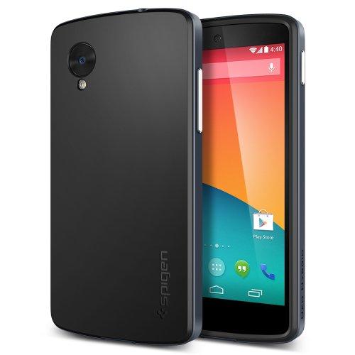Nexus 5 Case, Spigen Neo Hybrid Series For Nexus 5 - Retail Packaging - Metal Slate (Sgp10562)