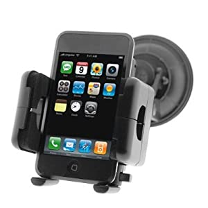 Fosmon Windshield Car Mount Holder with Large Suction Cup for Apple iPhone 4 / iPhone 4G HD Smartphone