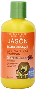 JASON Kids Only! Daily Detangling Shampoo, 8 Ounce Bottle