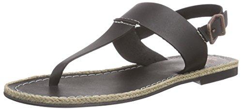 Fred de la BretoniereFred Tstrap sandalet flat LLoret flat - Sandali a Punta Aperta Donna , Nero (Nero (nero)), 39