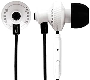 Bench Beat Ecouteurs intra-auriculaires avec Micro Blanc