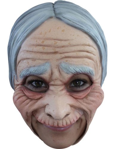 Old Lady Chinless Adult Mask - Halloween Mask